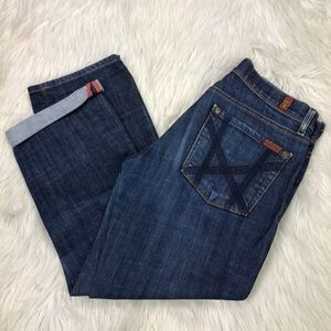 7 For All Mankind Mia Straight Leg Cropped Jeans